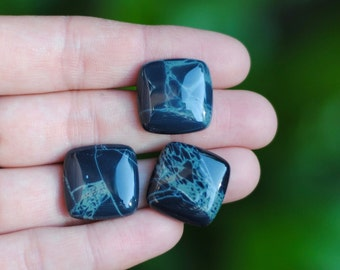 Spiderweb Obsidian Cabochon / 20mm / Rounded Square Cabochon / CAB075
