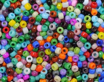 11/0: Opaque Multi Color / Japanese Seed Beads / 28 Grams / Miyuki Seed Beads / 11OPM