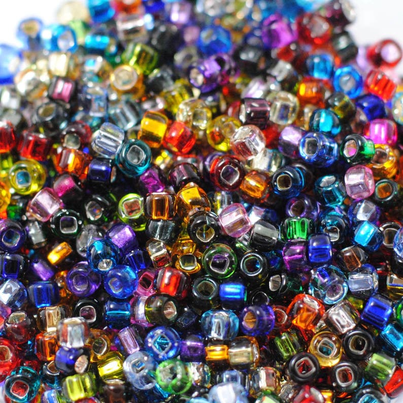 28Grams Japanese seed beads Mixed Luster round beads-Size 6//0