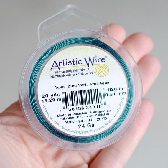 Artistic Wire / 24G Aqua / 20 Yards
