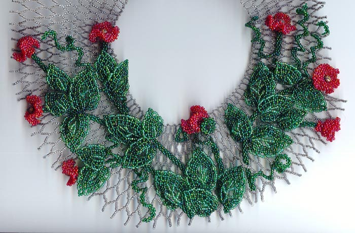 Pattern Seed Bead Flowers Necklace Jewelry Tutorial