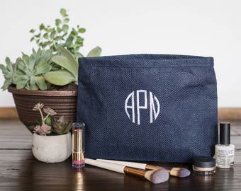 Monogramme sacs à cosmétiques, sacs de maquillage personnalisés demoiselle d'honneur, monogramme Make Up sacs, maquillage personnalisé sacs pour demoiselles d'honneur, 530323653