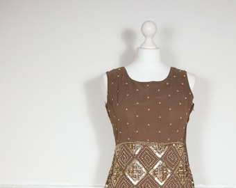 Vintage Hand Beaded Dress