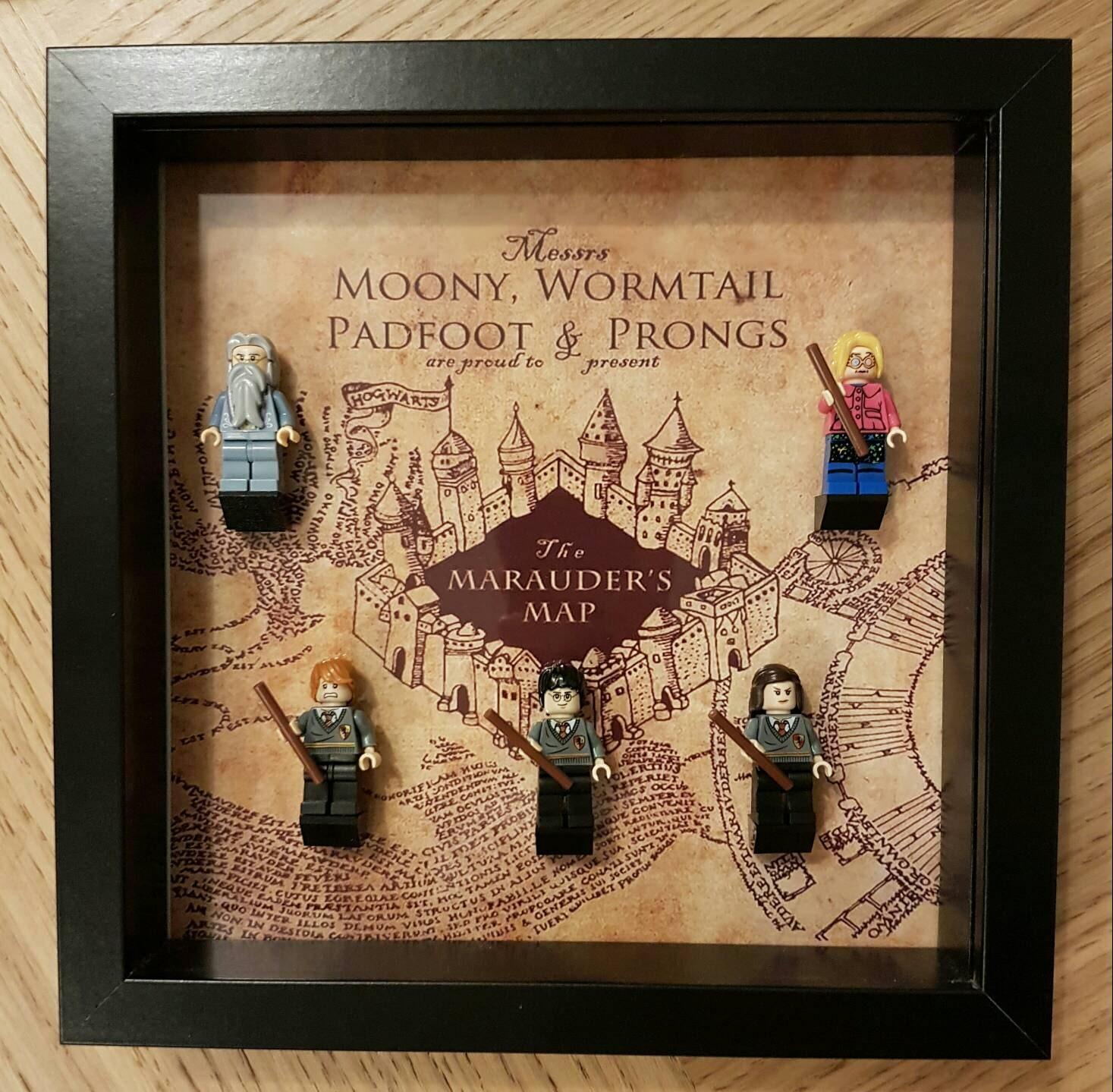 Harry Potter Marauders Karte Lego Display Rahmen   Etsy