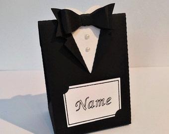 Tuxedo / Suit party box for weddings, birthdays, etc.
