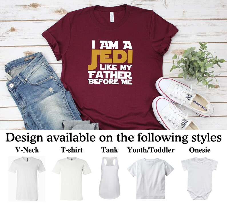 Assorted Colors 2T-5T Star Wars Toddler I Am a Jedi Like My Father Before Me