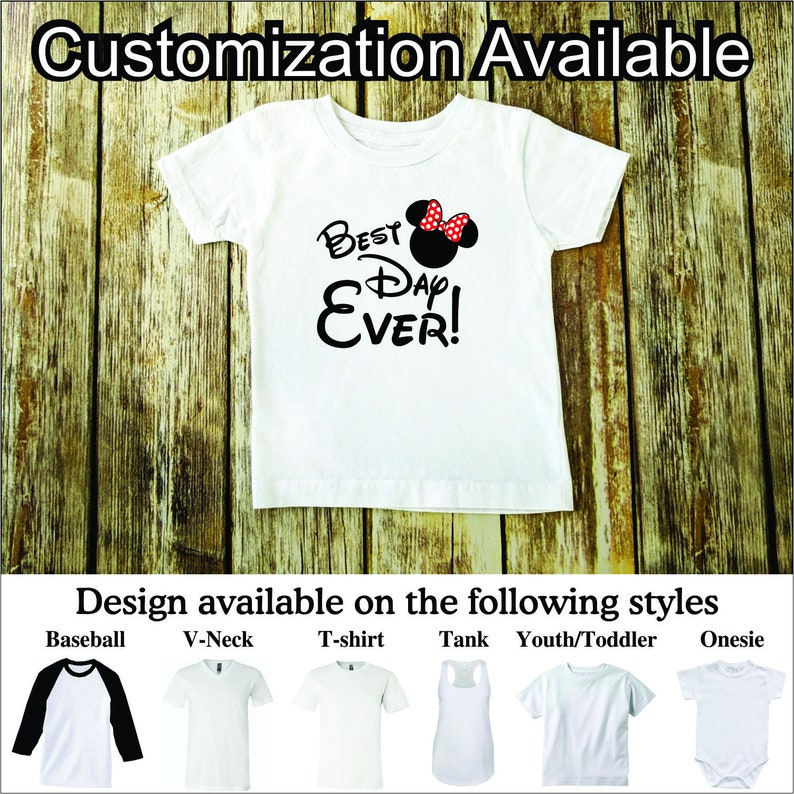 Best Day Ever Minnie ears T-shirt Disney Parks Family Vacation Shirts all sizes