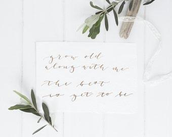 Handwritten Calligraphy Wedding Card