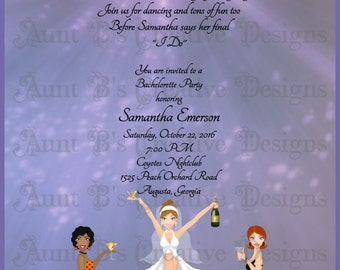 Nightclub Bachelorette Party Invitation, Bachelorette Party Invitation, Night Before Wedding Party Invitation