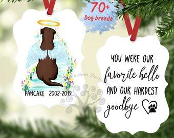Pet Memorial Ornament, Pet Loss Gift, Dog Memorial Ornament, Dog Owner Gift, Pet Memorial Christmas Ornament, Dog Ornament With Wings