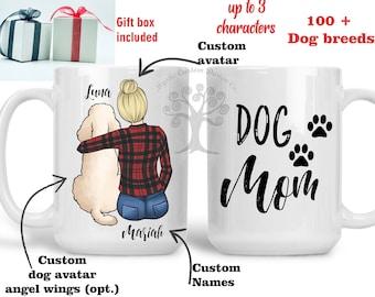 Dog Mom, Personalized Dog Mug, Dog Coffee Mug, Dog Mom Gift, Dog Coffee Cup, Custom Dog Mug, Dog Lover Mug, Pet Mug, Personalized Gifts
