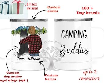 Custom Campfire Mug ,Personalized Camping Mug, Dog Mom, Personalized Dog Mug, Dog Lovers gift , Dog Dad, Gifts For Dog Lovers