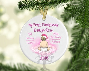 Personalized Free Live Laugh Love in the Mountains Christmas Ornament Wood