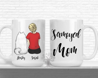 Samoyed Mom Mug, Samoyed Gifts, Dog Mom Mug, Samoyed Mug, Samoyed Lover Gift, Samoyed Mom Gift, Personalized Samoyed Mug, Dog Mom