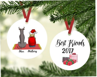 best friends with italian greyhound greyhound dog ornament personalized christmas ornament greyhound gift custom dog ornaments custom - Italian Christmas Ornaments