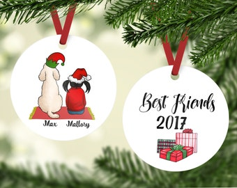 best friends with doodle ornament doodle ornament kid with goldendoodle family ornaments goldendoodle ornament labradoodle ornament - Goldendoodle Christmas Decorations