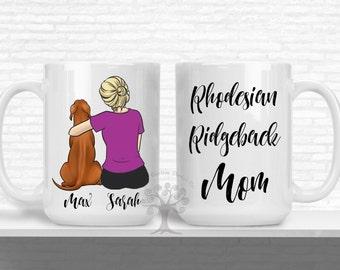 Personalized Rhodesian Ridgeback Mug, Rhodesian Ridgeback mom Mug, Rhodesian Ridgeback Dad Mug, Gift For Rhodesian Ridgeback Lover, Dog Mom