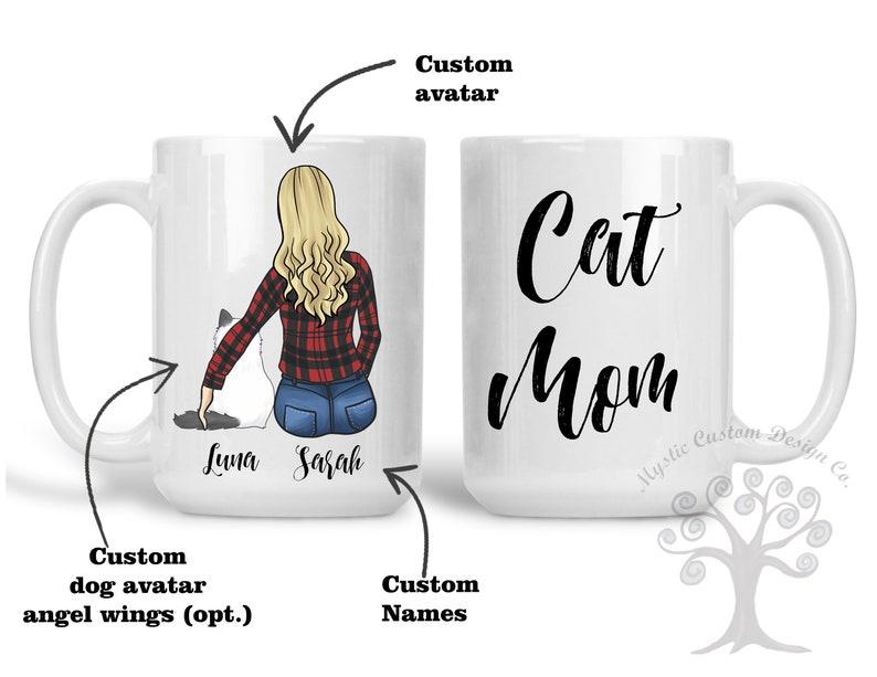 Custom Cat Mom Mug Cat Mother Mug Cat Mom Gift Cat Lover image 0