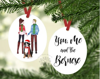 You, me and the Bernese Ornament, Bernese Mountain dog Gift, Bernese Ornament, Gift For Bernese lover, Bernese Mountain Dog Ornament