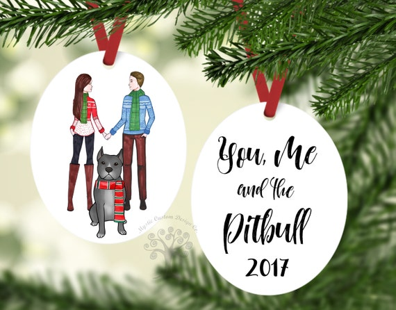 Pitbull Christmas Ornament.You Me And The Pitbull Pitbull Christmas Ornament Pitbull Ornament Pet Gift Dog Ornament Christmas Ornament Gift For Couple