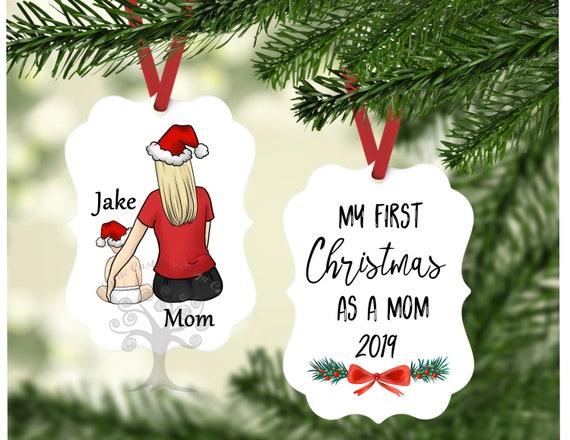 Mom Ornament Gift Baby Shower Gift New Mom Gift Personalized Christmas Ornament Christmas Gift for Mama Christmas New Mama Gift Ornament 87.