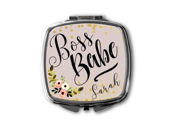 Boss Babe Compact Mirror Personalized Compact Mirror Custom