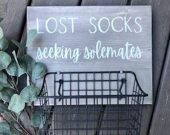 Just Another Tee Lost Socks Seeking Soulmates Statement Stuff Sack
