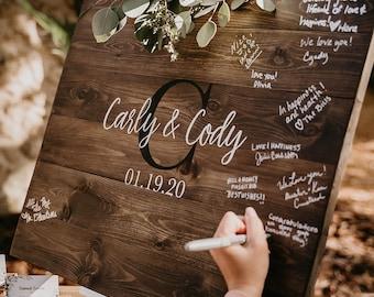 Wedding Guest Book Sign, Monogram Guestbook, Guest Book, Wooden Guest Sign, Wedding Decor, Wedding Ceremony Sign, Graduation Guest book
