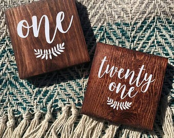 Wooden Table Numbers, Wedding Decor, Table Numbers, Wedding Table Numbers, Table Decor, Rustic Table Numbers, Wedding Reception Decor