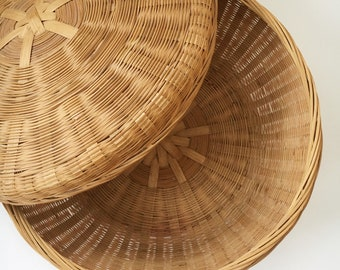 Wicker Sewing Basket with lid