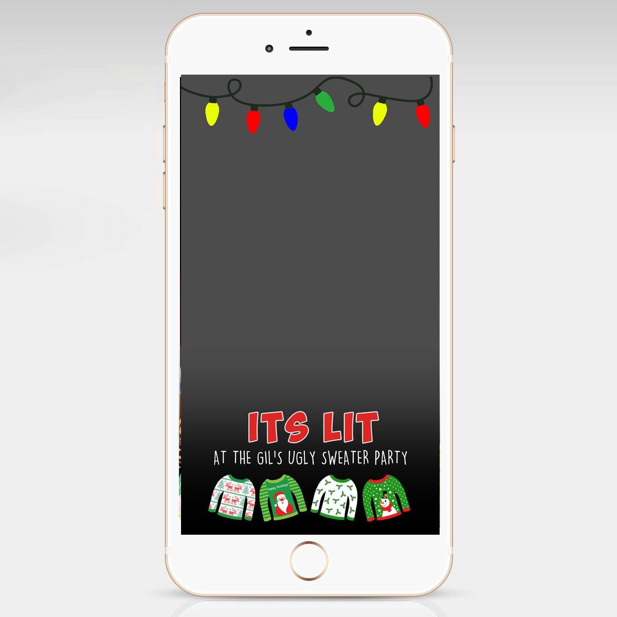 Seine beleuchteten Weihnachten Snapchat Geofilter hässliche | Etsy