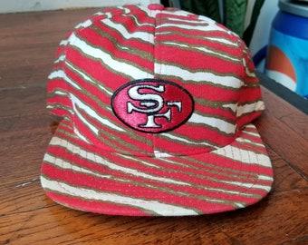 3aea8d569315f2 Vintage 90s Zubaz San Fransisco 49ers NFL Football Unisex Snapback Hat