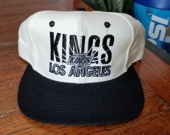 new arrival b59fd ad239 Vintage 90s Los Angeles LA Kings NHL Hockey Snapback Unisex Hat