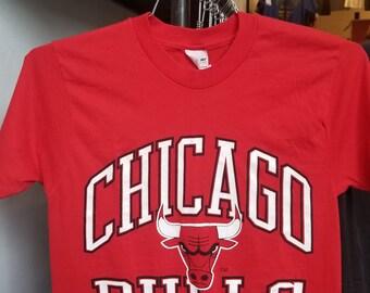 523a7fecb18f Vintage 90s Chicago Bulls NBA Basketball Unisex Single Stitch T-Shirt