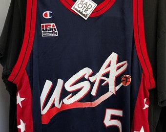 a6af5cdd75f Vintage 90s Champion USA Basketball Grant Hill Unisex Jersey