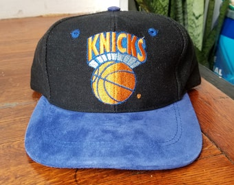 40340a075ed Vintage 90s New York Knicks NBA Basketball Unisex Snapback Hat
