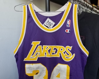 4d2406f2442f Vintage 90s Champion Los Angeles Lakers Shaquille O Neal Shaq NBA  Basketball Unisex Jersey