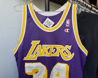 760ad4e56 Vintage 90s Champion Los Angeles Lakers Shaquille O Neal Shaq NBA  Basketball Unisex Jersey