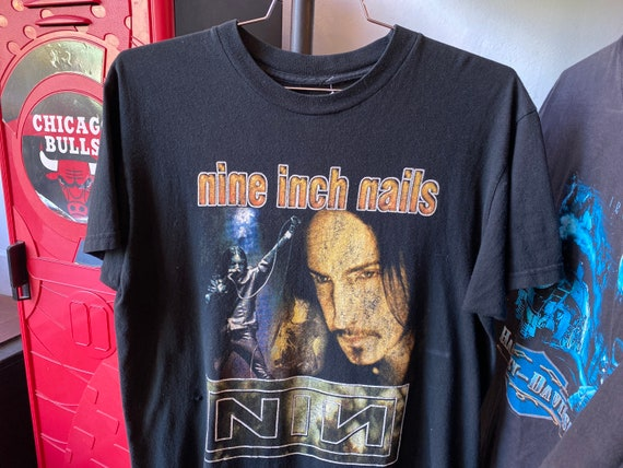 Vintage 90s Bootleg Nine Inch Nails NIN Metal Hard