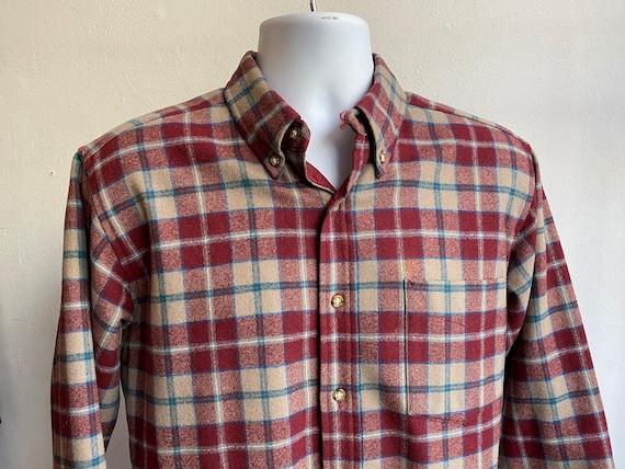 Vintage 80s Pendleton Button Up Plaid Wool Dress S