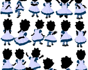 Little African American Girl Fun Volume 2 Royalty Free Art for Commercial and Personal use