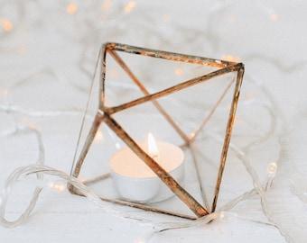 Glass candle holder - Wedding decor - Candle holder - Table centerpiece - Wedding ring box - Candleholders  set - Wedding decorations