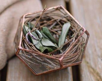 Geometric Terrarium - Handmade Geometric Terrarium - Glass Dodecahedron - Glass Planter- Home decor - wedding ring box