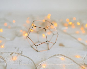 Wedding Candleholder - Copper wire - Copper wire decor - Wedding table decoration - Candle holder - Geometric decor - Wedding centerpiece