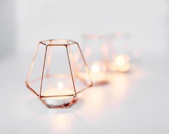 Copper wire - Copper wire decor - Wedding Copper wire - Candleholders - Wedding table centerpiece - Candle holder - Wedding Candle holders