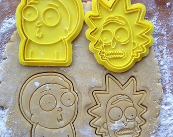 Rick and Morty cookie cutters set of 2.