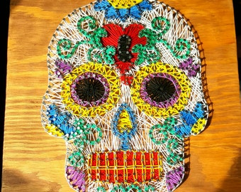 sugar skull art etsy