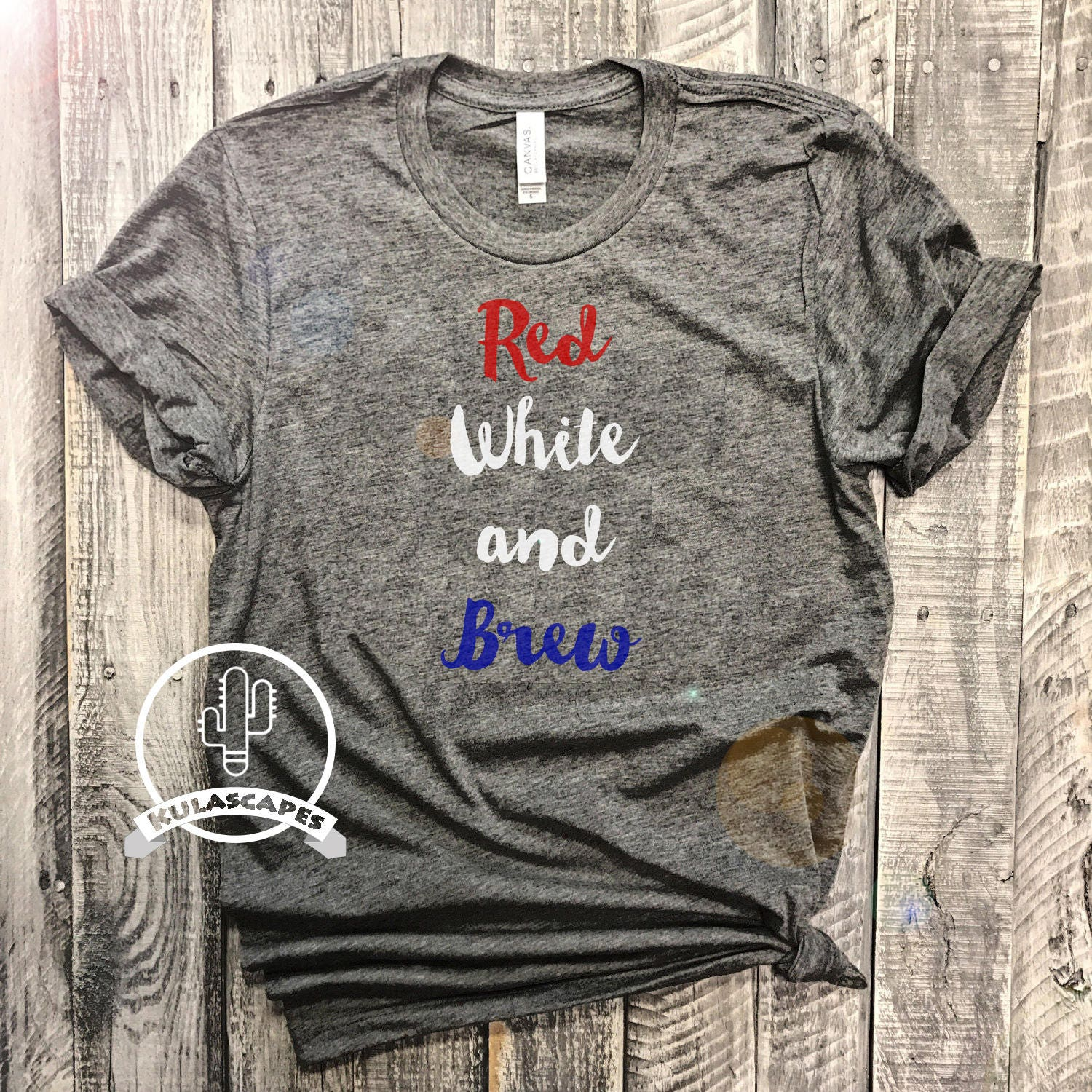Red White and Brew Unisex Shirt 4th of July Shirt 4th of ... - photo#23