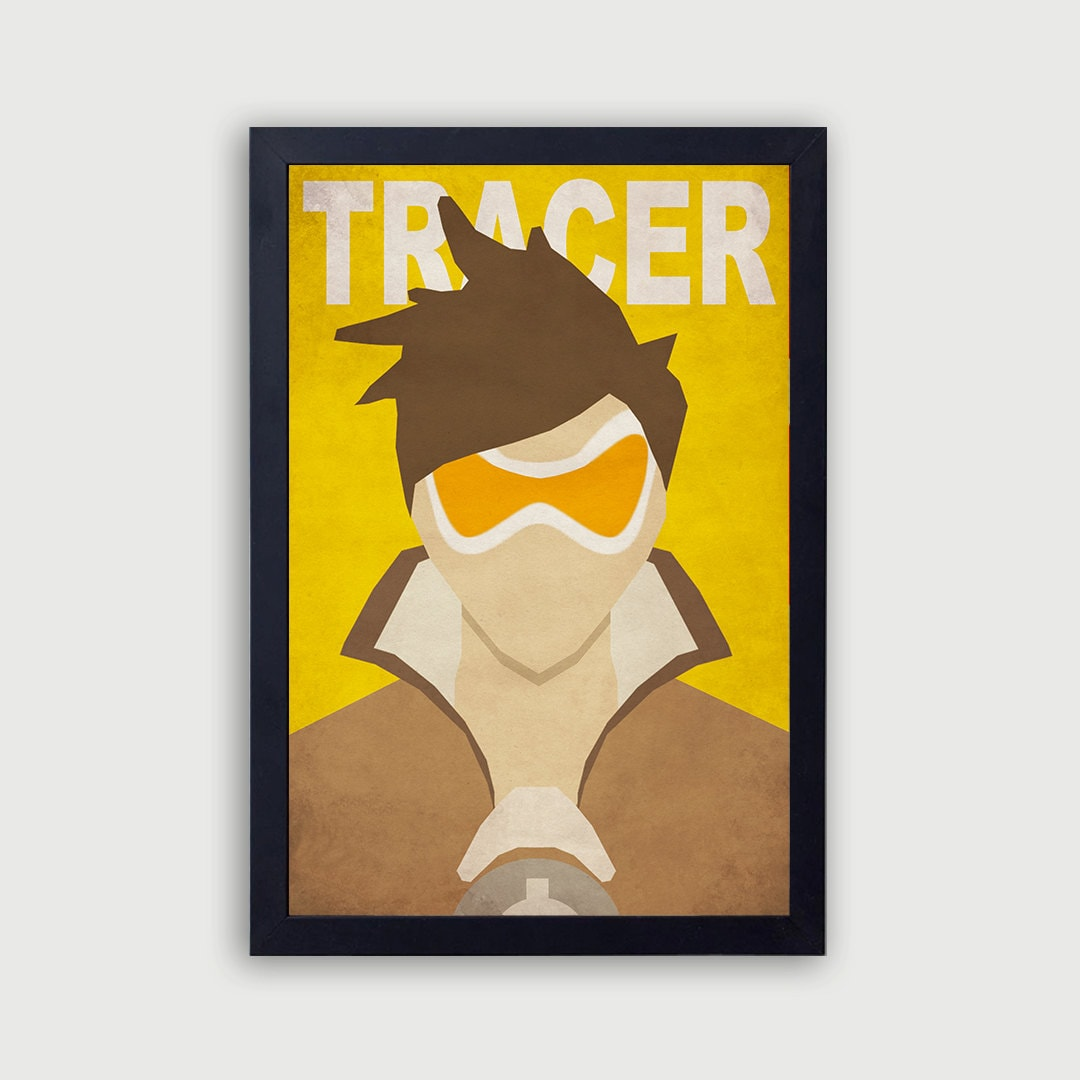 Overwatch Tracer Poster Overwatch Print Vintage Overwatch | Etsy