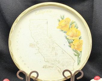 California Souvenir tray. Circa 1950's. Mid century modern.